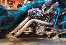 EXOTIC CHOPPERS Custom exhaust for: Milwaukee 8, Softail, Sportster